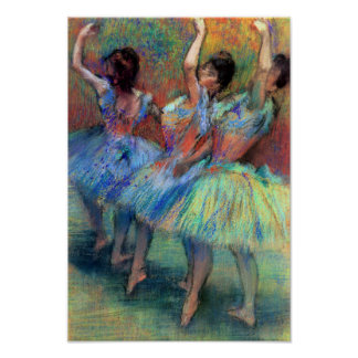 Tres bailarines cerca desgasifican posters