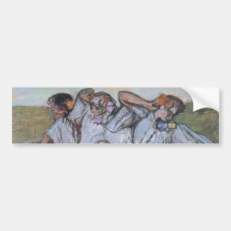 Tres bailarines rusos de Edgar Degas Etiqueta De Parachoque