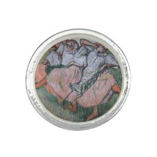 Tres bailarines rusos de Edgar Degas
