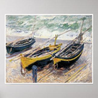 Tres barcos de pesca, 1886 posters