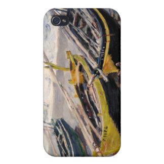 Tres barcos de pesca - Claude Monet iPhone 4 Fundas