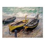 Tres barcos de pesca - Claude Monet Postales