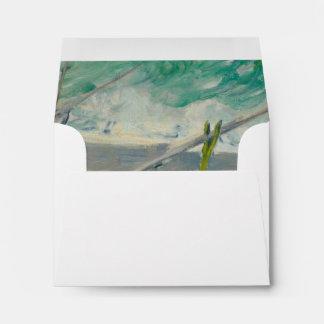 Tres barcos de pesca de Claude Monet