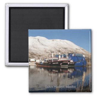Tres barcos rastreadores, puerto holandés, Alaska Imanes De Nevera