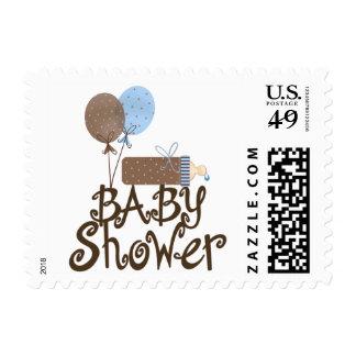 Tres Bebe elegante Bleu Sello Postal