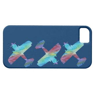 Tres biplanos de Colorwashed iPhone 5 Funda