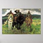 Tres Bogatyrs (1898) por la impresión de Victor Va Poster
