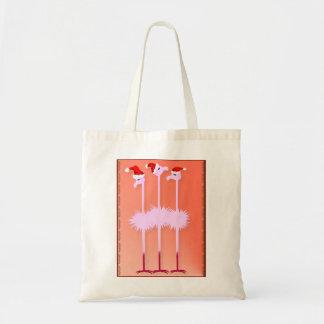 Tres bolsos de los flamencos del navidad bolsa tela barata