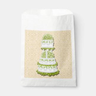 Tres bolsos elegantes del favor del pastel de