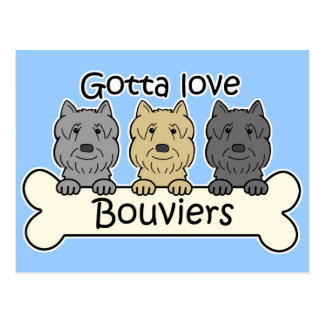 Tres Bouviers Tarjeta Postal