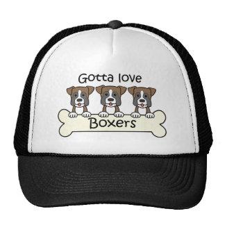 Tres boxeadores gorras
