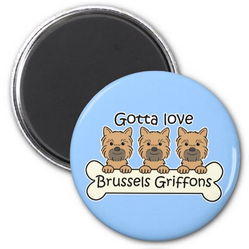 Tres Bruselas Griffons Imán Para Frigorifico