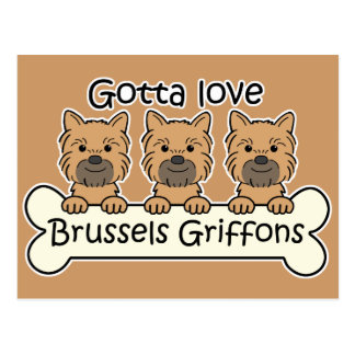 Tres Bruselas Griffons Postal