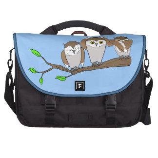 tres búhos sabios bolsas de portátil