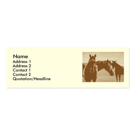 """Tres caballos de Brown"" modificaron la tarjeta de Plantilla De Tarjeta De Visita"