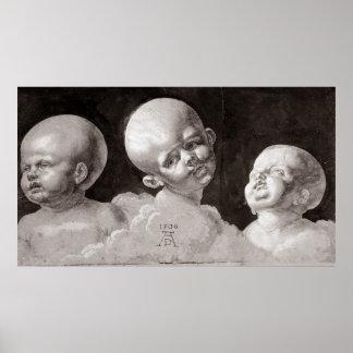 Tres cabezas de los niños, 1506 póster