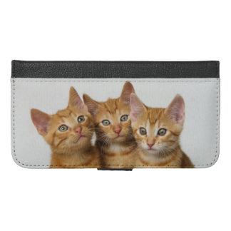Tres caja linda de la cartera del iPhone 6 de los