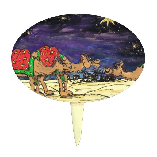 Tres camellos sabios decoraciones para tartas