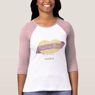 Tres camiseta de la manga de las mujeres de camisas