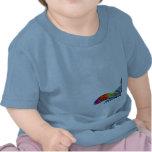 Tres camisetas coloridas del niño de las tortugas