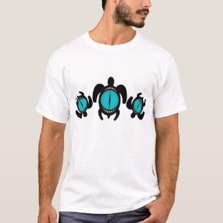 Tres camisetas de las tortugas del ojo de gato