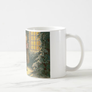 Tres Carolers cruzan la taza de café de la puntada
