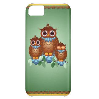 Tres caso alerta del iPhone 5 de los pequeños búho Funda Para iPhone 5C