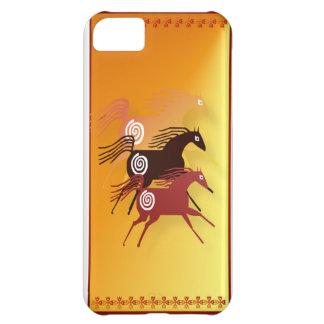 Tres caso antiguo del iPhone 5 de los caballos Funda Para iPhone 5C