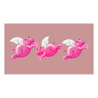 tres cerdos que vuelan tarjetas de visita