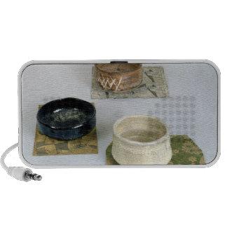 Tres chawans usados para las ceremonias de té, c.1 iPod altavoces