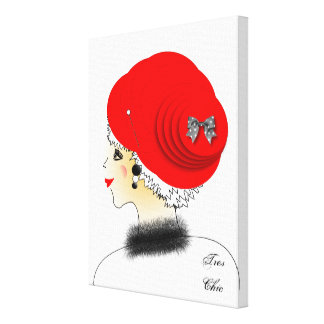 Tres Chic Fashion Lady Illustration Canvas Print