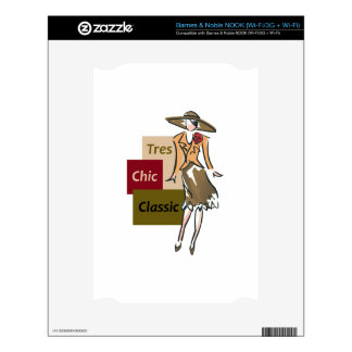 TRES CHIC FASHION DECALS FOR THE NOOK