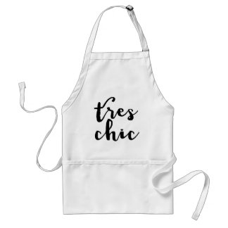 Tres Chic French Phrase Adult Apron