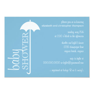 Tres Chic Umbrella Couple's Baby Shower Invitation