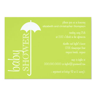 Tres Chic Umbrella Couple's Baby Shower Invitation