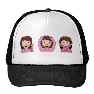 Tres chicas Emoji Gorro De Camionero
