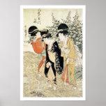 Tres chicas que se baten en un río, de la 'moda póster