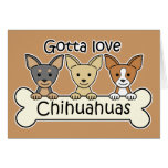 Tres chihuahuas felicitacion