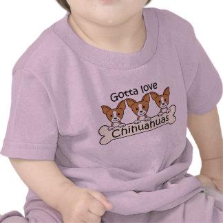 Tres chihuahuas camisetas