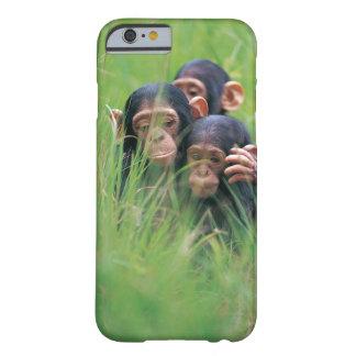 Tres chimpancés jovenes (trogloditas de la funda de iPhone 6 barely there