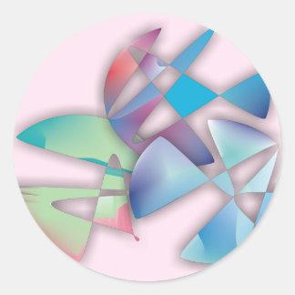 Tres círculos abstractos etiquetas redondas