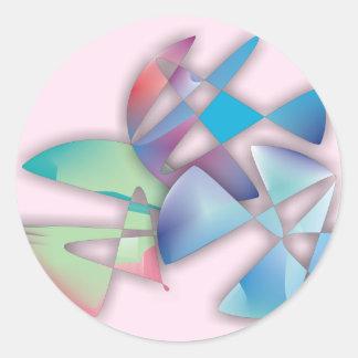 Tres círculos abstractos etiqueta