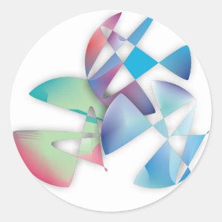 Tres círculos abstractos etiquetas