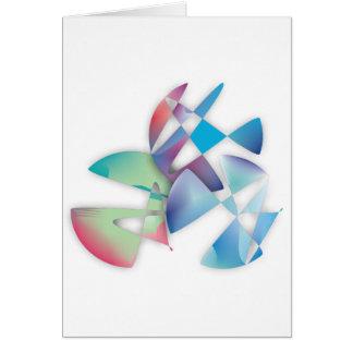 Tres círculos abstractos tarjeta de felicitación