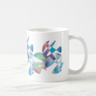 Tres círculos abstractos taza de café