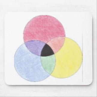 Tres círculos tapete de ratón
