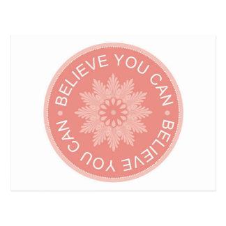 Tres citas de la palabra ~Believe le Can~ Postales