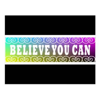Tres citas de la palabra ~Believe le postal de Can