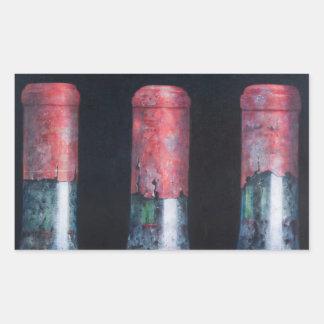 Tres claretes polvorientos 2012 pegatina rectangular