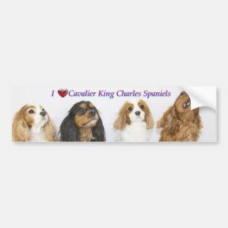 Tres colores de los perros de aguas de rey Charles Pegatina Para Auto